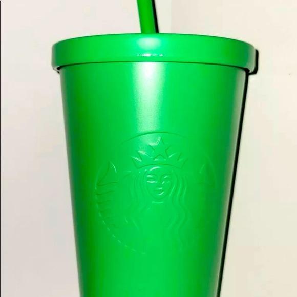 Starbucks Matte Kelly Green Metal Tumbler 16 oz